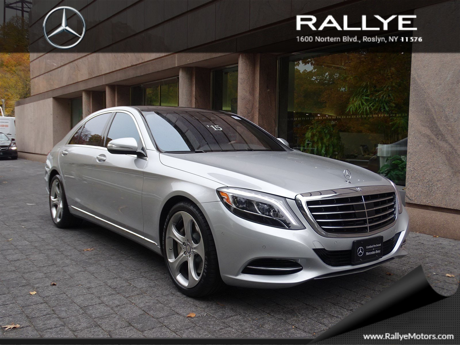 certified pre owned 2015 mercedes benz s class s550 sedan in roslyn 26859 rallye motors. Black Bedroom Furniture Sets. Home Design Ideas